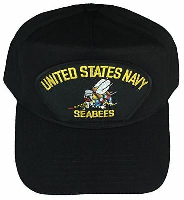 USN NAVY SEABEES HAT CAP CAN DO CB CONSTRUCTION BATTALION ENGINEER VETERAN