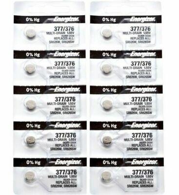 376 Energizer Watch Batteries - Energizer 377 376 WATCH BATTERY SR626SW SR626W Silver Oxide Battery 10 Pack-New