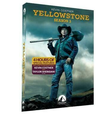 Yellowstone Season 3 (DVD, 4-Disc,2020) Brand NEW * US Seller *