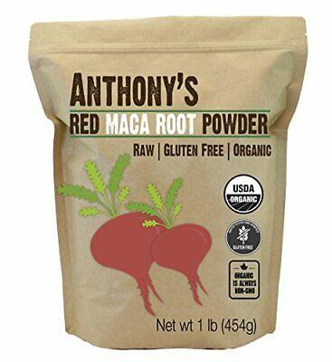 Anthony's Organic Red Maca Powder, 1lb, Raw, Gluten Free, No