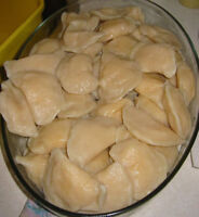 Perogies, from $4/dozen . Cabbage rolls without meat -$10/dz , w