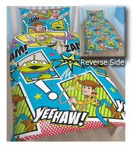 TOY STORY BUZZ WOODY SINGLE bed QUILT DOONA DUVET COVER SET NEW