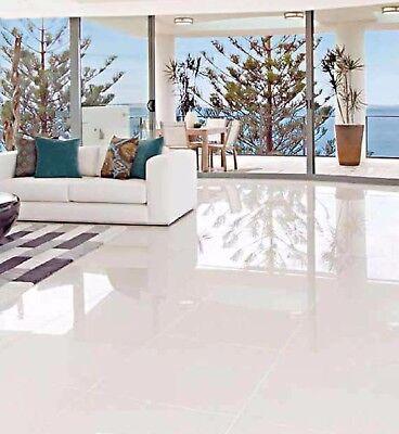 Glazed Polished Porcelain Tile 24x24 Iceberg White Super Bright Rectified