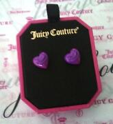 Juicy Couture Purple Earrings