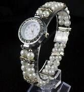 Ladies Beaded Bracelet Watch