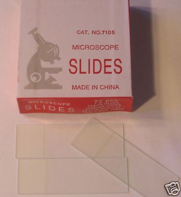 Blank Microscope Slides 50 Ground Edges Frosted For Student School Lab New