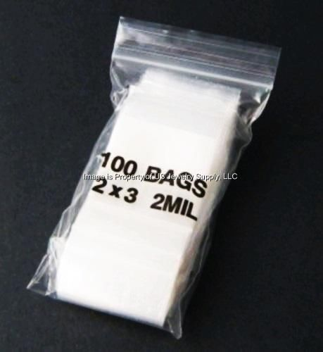 """2000 Zip Lock 2"""" x 3"""" 2 Mil Clear Poly Resealable Bags Crafts Jewelry Coins"""
