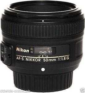 New Nikon NIKKOR AF-S 50mm F/1.8G Camera Lens Objektiv *EU TAX FREE*