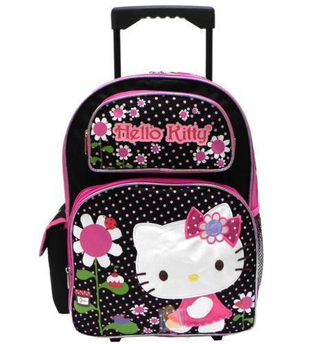 girls rolling backpacks