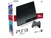Sony PlayStation 3 160GB Slim Console with 2 Controllers + 6 Games, All Leads