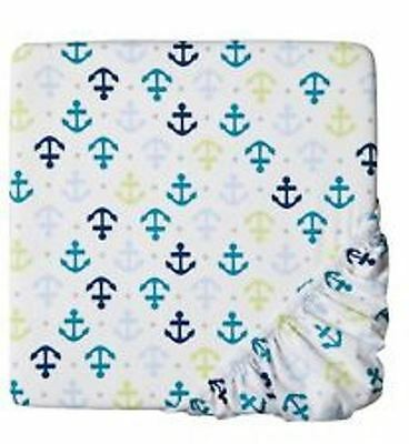 CIRCO Fitted Crib Sheet Whales n Waves Nursery Toddler bed anchor New Baby Boy for sale  Booneville