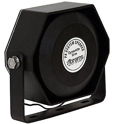 New Abrams Compact 100 Watt Siren Speaker Capable Ultra Slim Low Profile