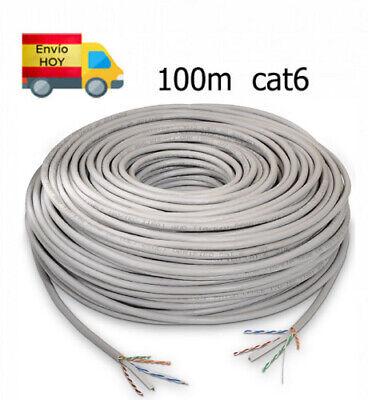 Bobina Cable Red Ethernet 100m metros RJ45 CAT6 Gigabit 1000 mbps ENVIAMOS...