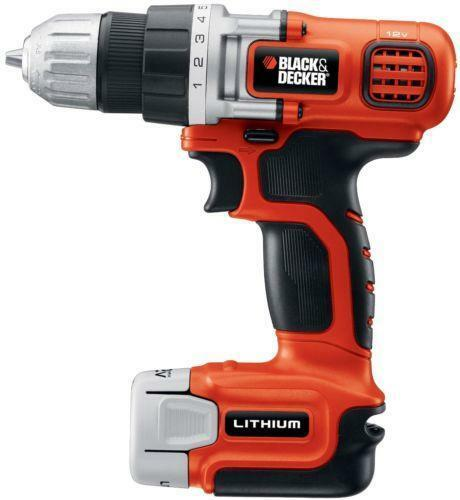 black and decker 12v drill ebay. Black Bedroom Furniture Sets. Home Design Ideas