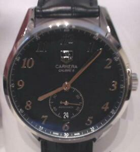 NEW-TAG-Heuer-Men-039-s-WAS2110-FC6180-Automatic-Leather-Strap-Watch-995