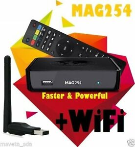 IPTV  USB WIFI  DONGLE with MAG254 BOX FOR ONLY 95$!!!