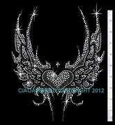 Rhinestone Wings Transfer