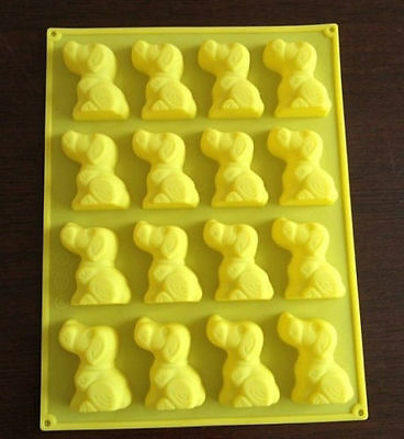 16-Dog Cake Mold Cookie Mould Flexible Silicone Soap Mold Chocolate Mould