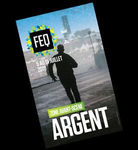FEQ Billet avant scène ARGENT Festival d'été de Québec