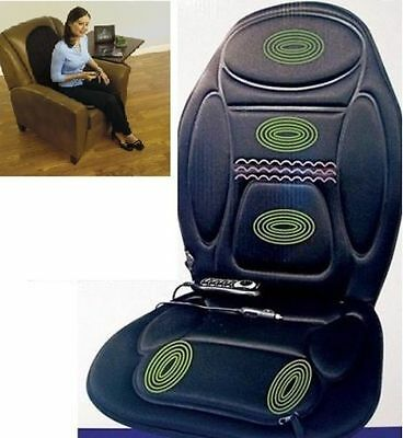 NEW HEATED BACK SEAT REMOTE CONTROL MASSAGE CHAIR CAR HOME VAN RELAX CUSHION