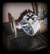 Crystal Leather Cuff