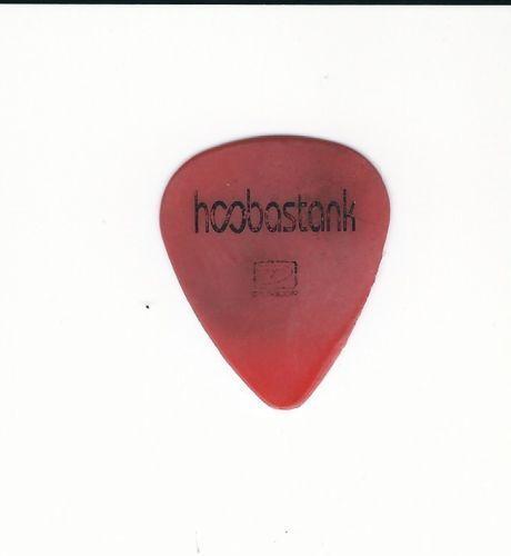 Authentic HOOBASTANK Guitar Pick Red