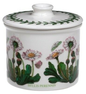 - Portmeirion Botanic Garden Drum Shaped Covered Sugar Bowl