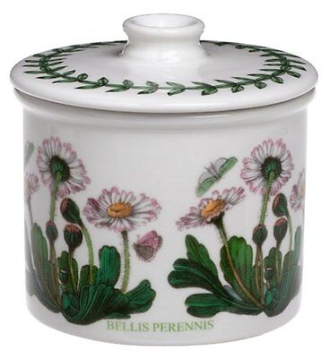 - Portmeirion Botanic Garden 7oz Drum Covered Sugar Bowl, Daisy (60100)