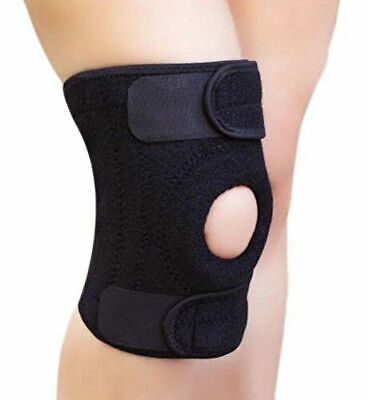 2pcs Black Neoprene Patella Elastic Knee Brace Fastener Support Guard Gym Sport Health & Beauty