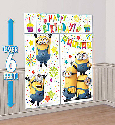 DESPICABLE ME 3 photo backdrop BIRTHDAY party wall decor Scene Setter Gru MINION
