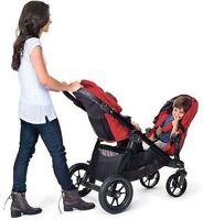 BABY JOGGER DOUBLE CITY SELECT STROLLER - BLACK FRAME COLOURS