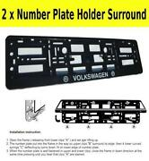 VW Number Plate Surround