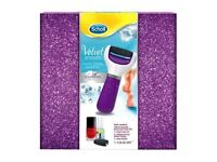 Scholl Velvet Smooth Pedi Electronic Foot File + Replacement Rollers rrp. £70