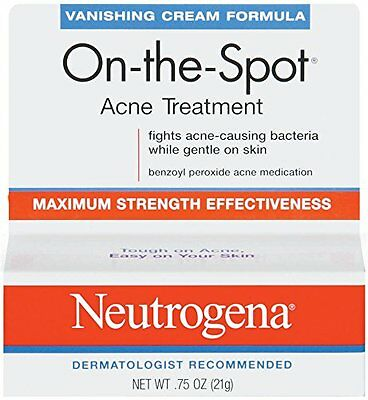 Neutrogena Vanishing Cream On-The-Spot Acne Treatment Max Strength .75oz Each ()