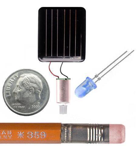 Solar Powered Electric Motor Kit: Solar Panel Motor