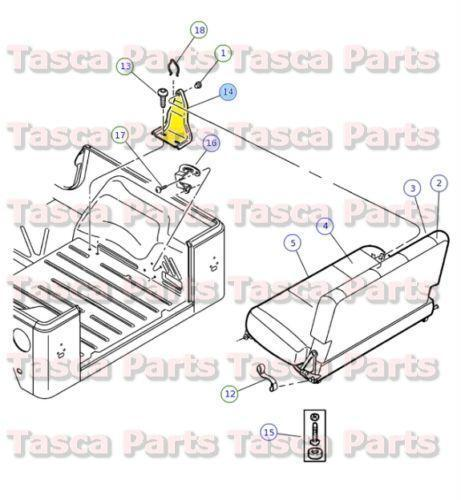 jeep wrangler rear seat brackets