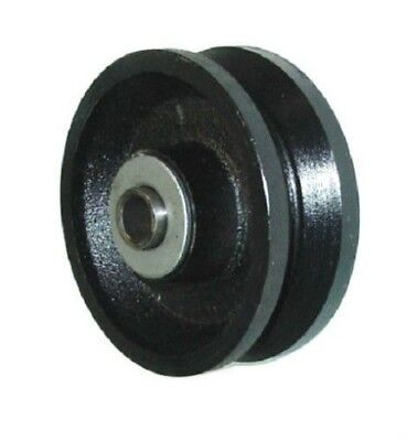 Durastar 4 X 1-12 Cast Iron V-groove Wheel With 12 Id Roller Bearing
