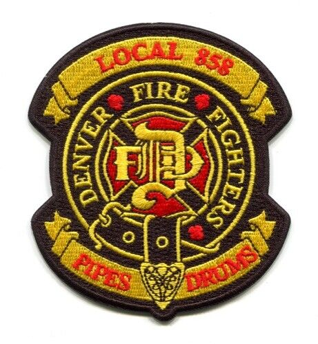 Denver Fire Department IAFF Local 858 Pipes and Drums Patch Colorado CO