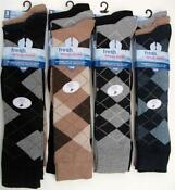 Mens Argyle Golf Socks