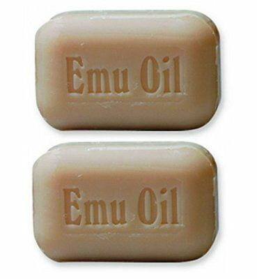 2 BARS The Soap Works Emu Oil Soap Bar (110g) 4 oz each, phosphate free