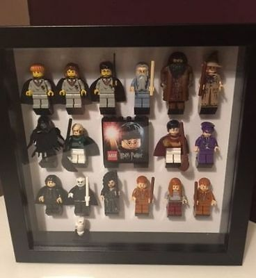 Minifigure Black Display Case Frame Black Lego Brick Series     Harry Potter - Serie Black Frame