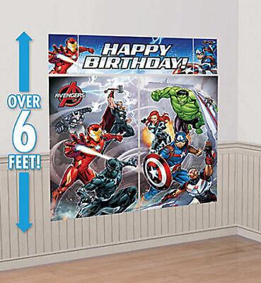 AVENGERS INFINITY WAR Scene Setter HAPPY BIRTHDAY party wall kit super hero HULK - Happy Birthday Avengers