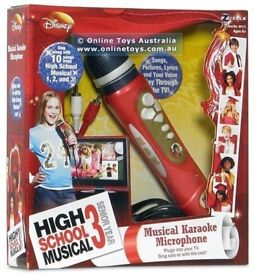 DISNEY TOY HIGH SCHOOL MUSICAL KARAOKE MICROPHONE - BOXED