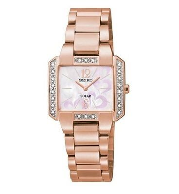 Seiko Women's Tressia Diamond Accented Rose Gold Stainless Steel Watch SUP212