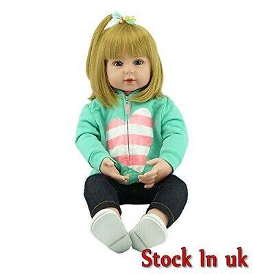 Lifelike Reborn Doll 23''Toddler Gift Handmade Vinyl Silicone Child BirthdayToys