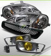 99-00 Civic Gunmetal Headlights