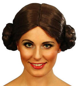 Star Wars Space Princess Leia Leah Wig Fancy Dress