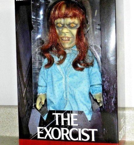Mezco Toyz large size Talking Exorcist figure MIB in hand   CREEPY