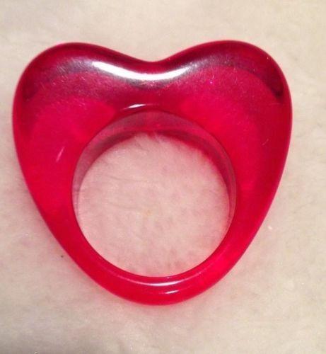Lucite Heart Rings New