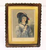 Antique Portrait Miniature Painting
